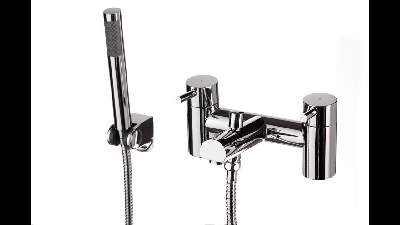 Bath Taps With Shower Attachment Thermostatic Mixer   YouTube