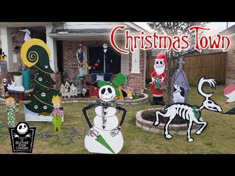 CHRISTMAS TOWN NIGHTMARE BEFORE CHRISTMAS YARD LAWN DECOR JACK SKELLINGTON