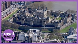 Prince Philip Funeral: Aerial Views Of The Tower Of London Gun Salute