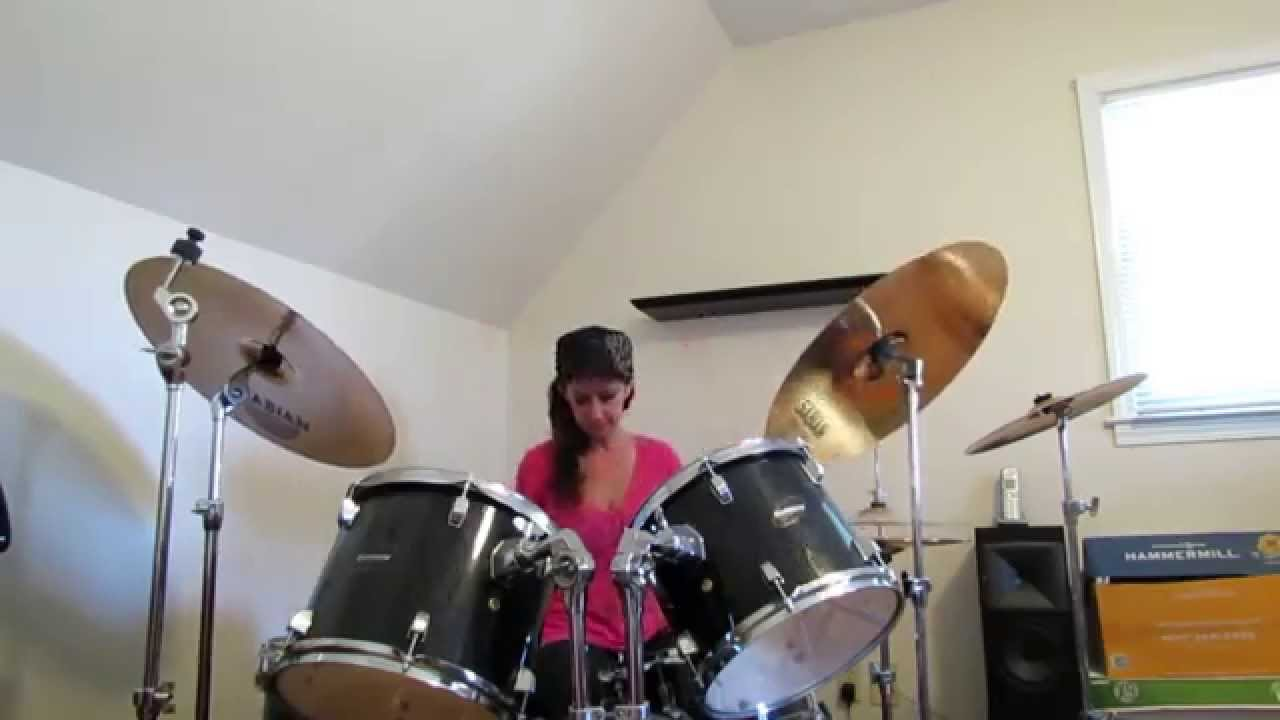 Sammy Hagar Baby39s On Fire Drum Cover By Denise Youtube