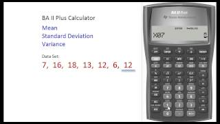 BAII Plus Calculator - Finding Mean & Standard Deviation