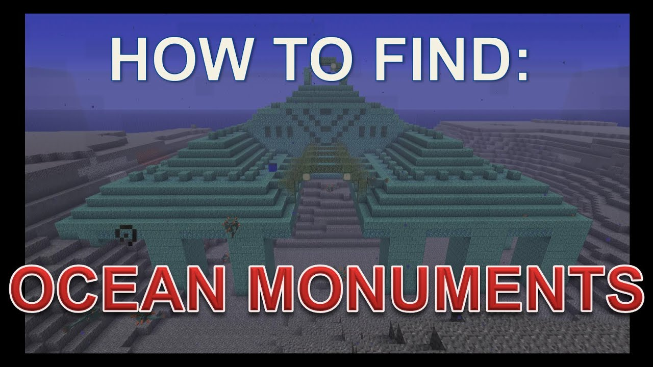 How to find OCEAN MONUMENTS - Minecraft 12.12