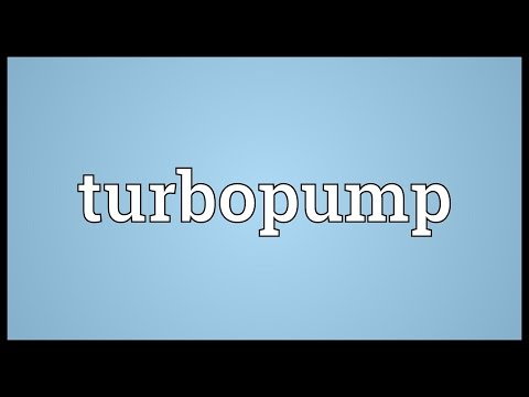 Turbopump Meaning