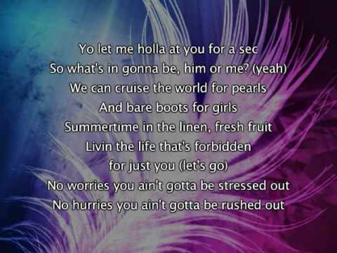 Beyonce - Summertime (Feat Diddy), Lyrics In Video