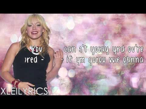 Hilary Duff - So Yesterday (Lyrics Video) HD