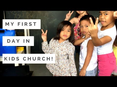 My first day in kids church! (plus more)