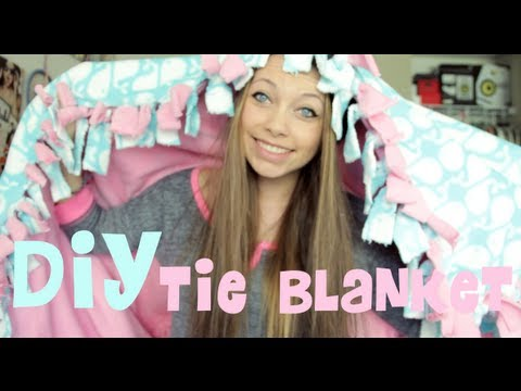 DIY: Fleece Tie Blanket!
