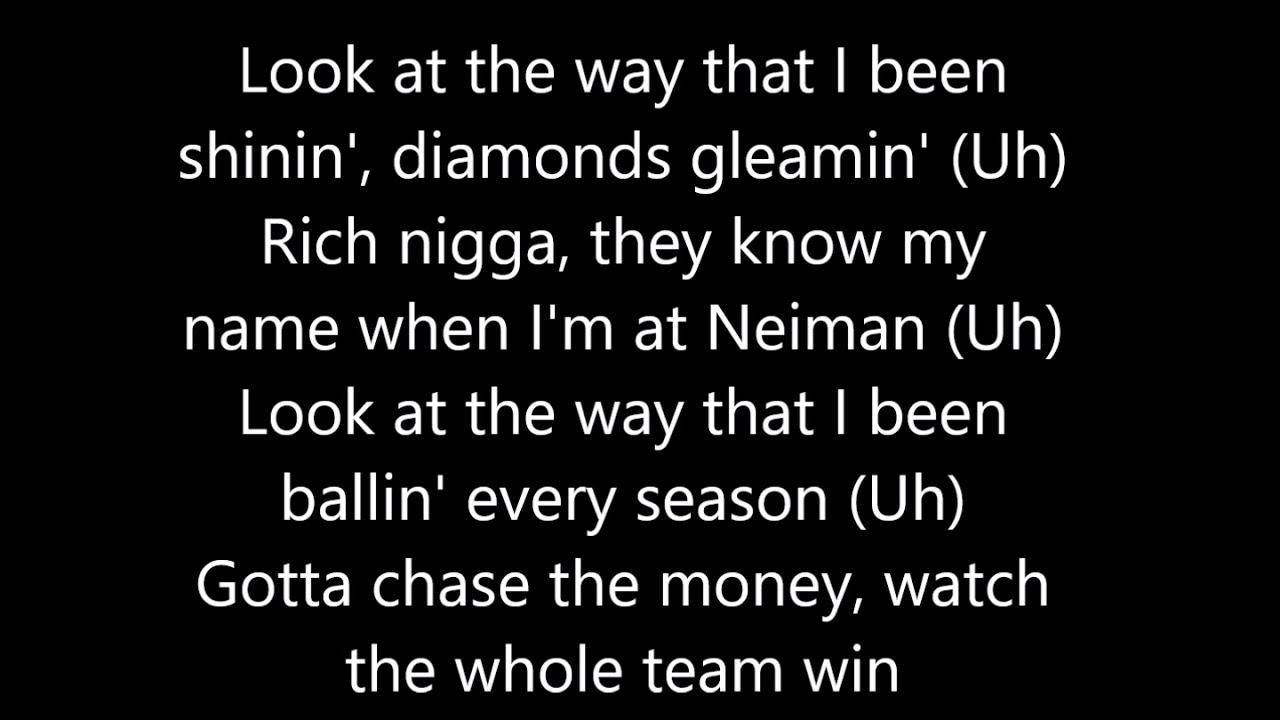E-40 feat  Quavo, Roddy Ricch, A$AP Ferg, and ScHoolboy Q - Chase The Money  (Lyrics)