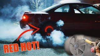RED HOT BURNOUT + How To Powdercoat Wheels!