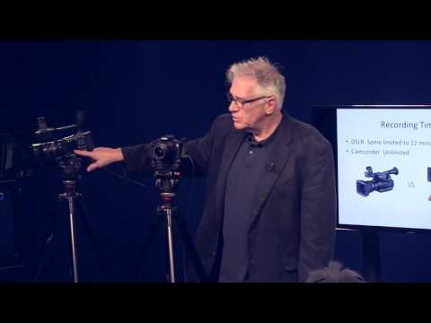 """Cape Ann TV's """"Lunch & Learn"""" Series - DSLR vs Camcorder - Which Is Right For Your Shoot?"""