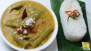 Dal Curry with Drumstick - Murungakai Poricha Kuzhambu