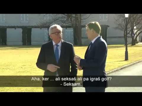 Jean-Claude Juncker: Ali seksaš ali pa igraš golf? Miro Cerar: Seksam. (2.3.2017)