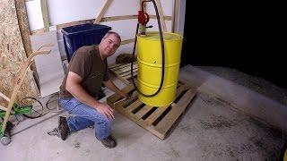 DIY Diesel Fuel Storage  Transport  and Pump via 55 Gallon Barrel for Compact Tractor