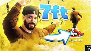 i made a 7 foot speed boosting point guard & broke nba 2k20...