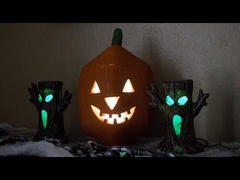 DIY Wooden Jack-O-Lantern