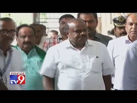 Karnataka Crisis: CM Kumaraswamy Arrives Vidhana Soudha Ahead Of Assembly Session