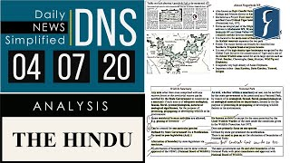 THE HINDU Analysis, 04 July 2020 (Daily News Analysis for UPSC) – DNS