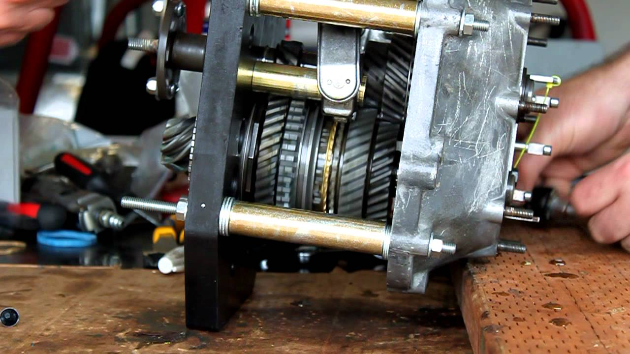 002 VW transaxle rebuild part 6  Gear Spin Video  YouTube