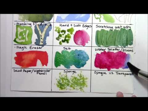 Watercolor Techniques for Beginners REMAKE part 3 of 4 - YouTube