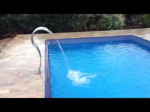 Piscina com cascata inox youtube - Piscina a cascata ...