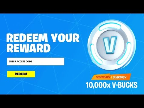 REDEEM THE 10,000 V-BUCKS CODE In Fortnite! (How To Get VBucks Code)