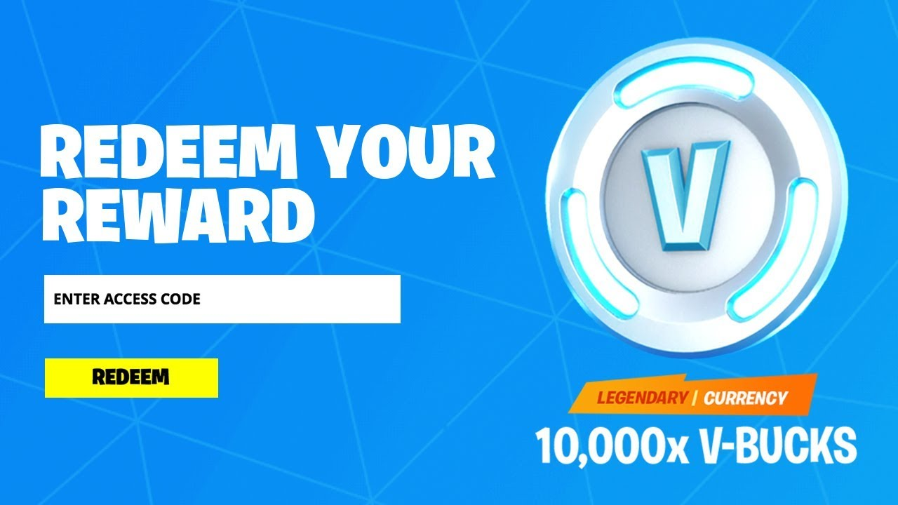REDEEM THE 10,000 V-BUCKS CODE in Fortnite! (How To Get ...
