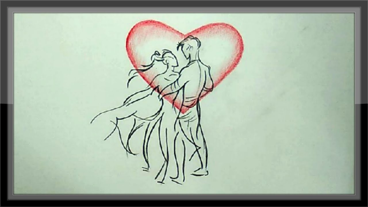 Pencil drawing love drawings easy pictures to draw