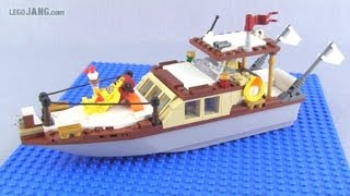 LEGO classic wooden powerboat MOC