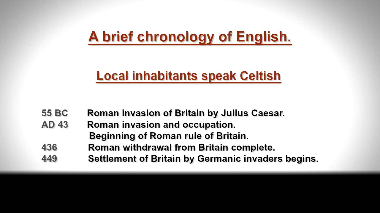 history of the english language About the film acting as an excellent layman's introduction to the origins of one of the most common languages on the planet, 'history of the english language' demonstrates how language.