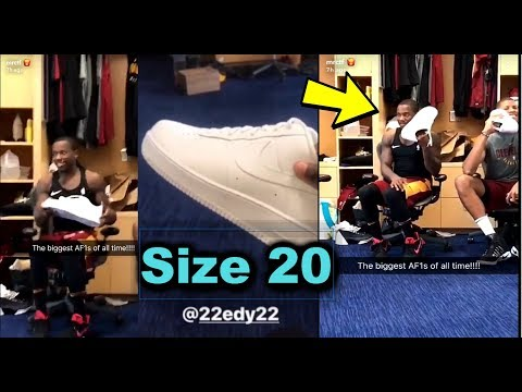 Cleveland Cavaliers Can't Believe Edy Tavares' Size 20 SHOES