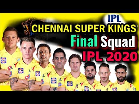 Vivo Ipl 2020 Chennai Super Kings Final And Confirm Squad Csk