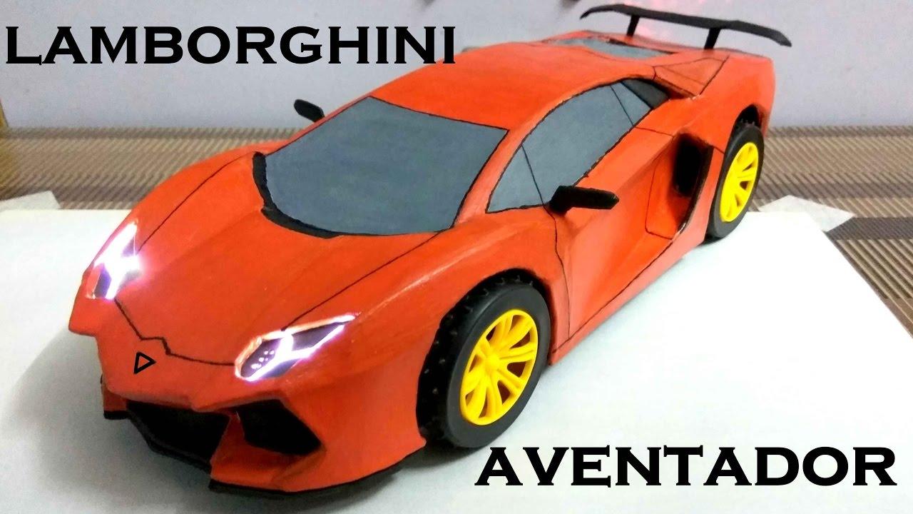 How To Make Electric Toy Car Lamborghini Aventador Diy Cardboard