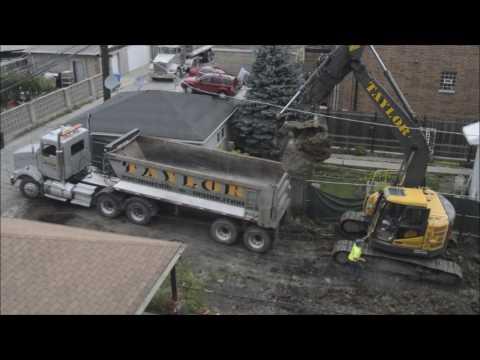 Volvo ECR235CL Loading Kenworth Dump Trucks [8-2-2016]