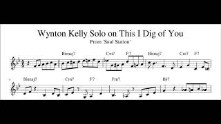 Wynton Kelly Solo on This I Dig of You Transcription (Sheet Music in Description)