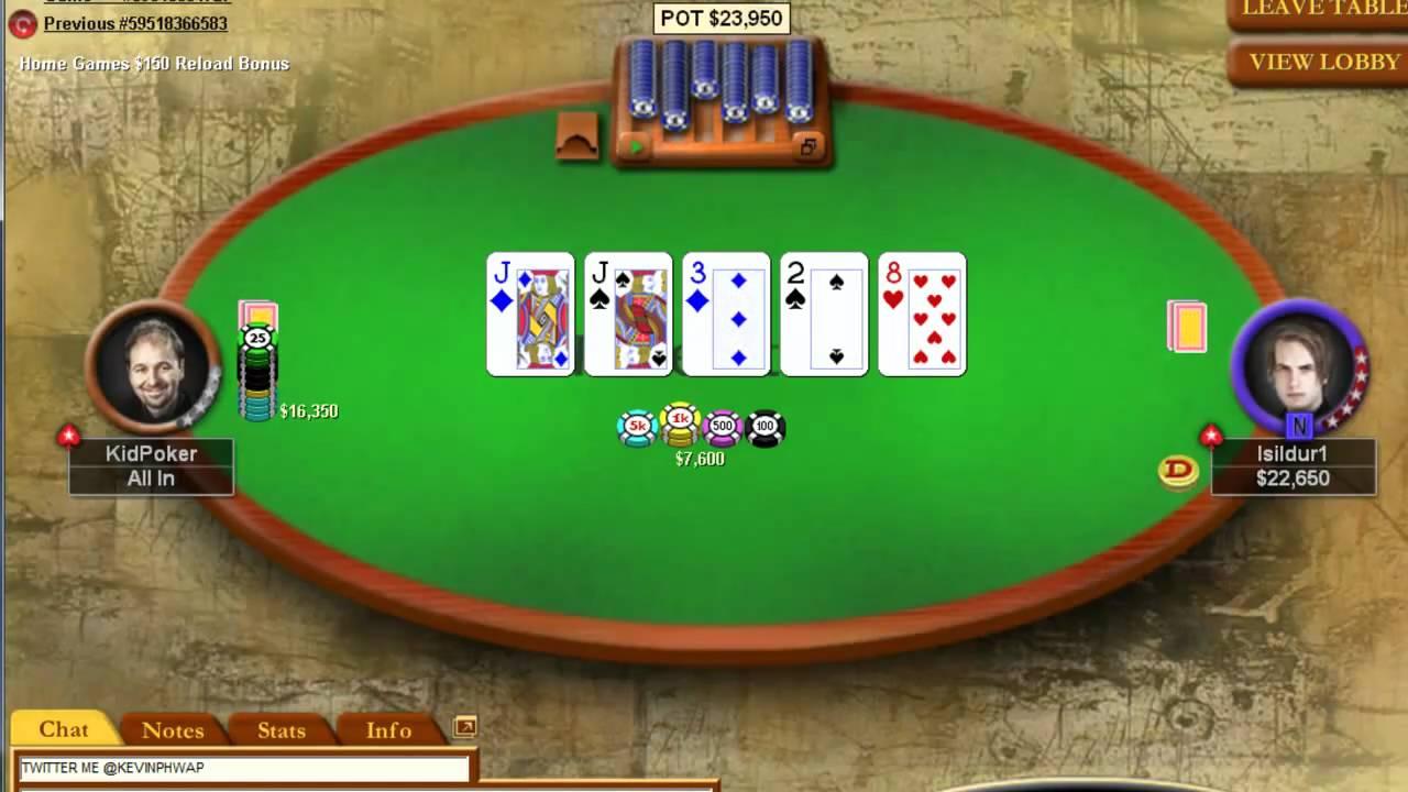 isildur vs daniel quotkid pokerquot negreanu part 1 youtube