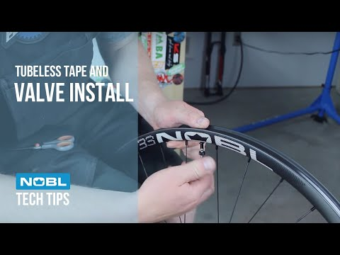 Tubeless Tape and Valve Install