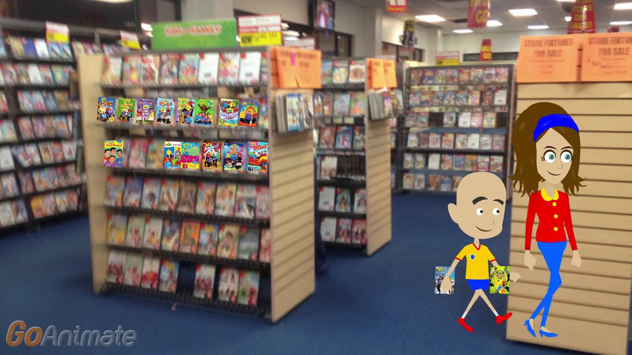 Caillou Gets 2 The Wiggles DVDs At Blockbuster