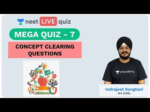 Mega Quiz - 7 | Concept Clearing Questions | Unacademy NEET | Physics | LIVE QUIZ | Indrajeet Sir