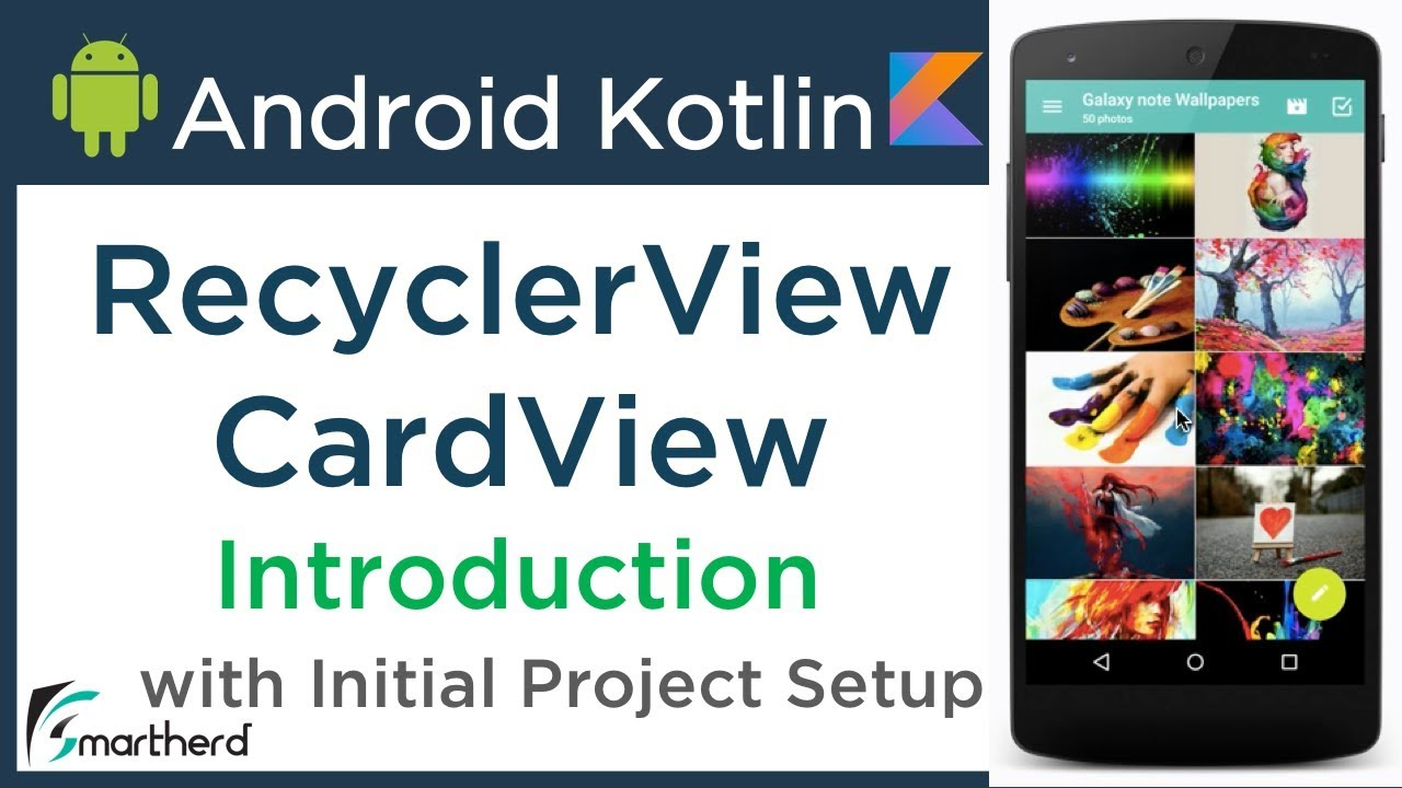 #3 1 Android RecyclerView Tutorial and CardView Tutorial using Kotlin