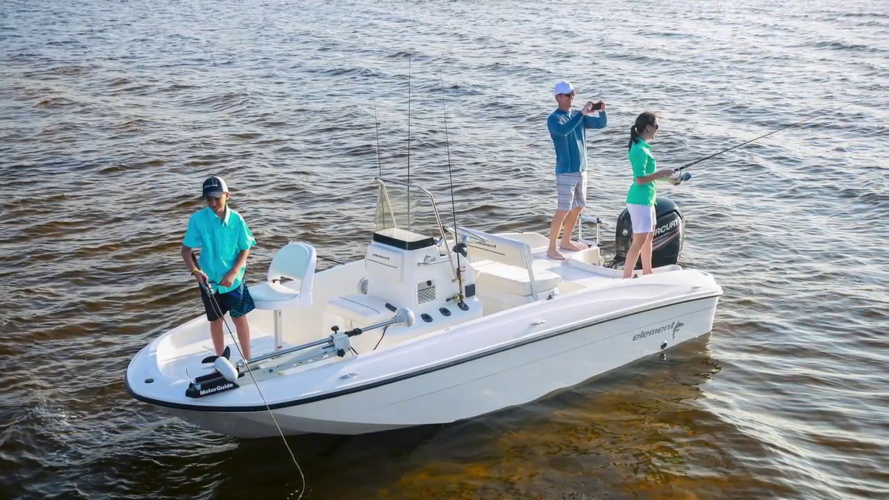 2016 Bayliner Element F18 18 Center Console Fishing Boat