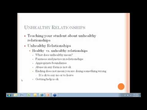 Creating and Sustaining Healthy Relationships