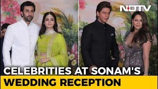 SRK, Alia, Ranbir & Other Stars At Sonam's Wedding Reception