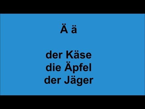 ABC  lern German  Umlaute and letter combinations  for beginners