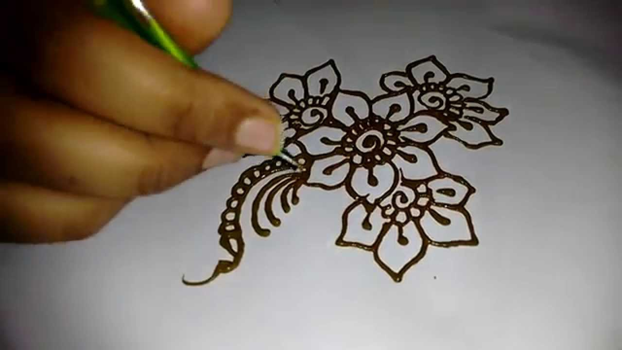 Simple and beautiful mehndi design for hands youtube for Simple and beautiful