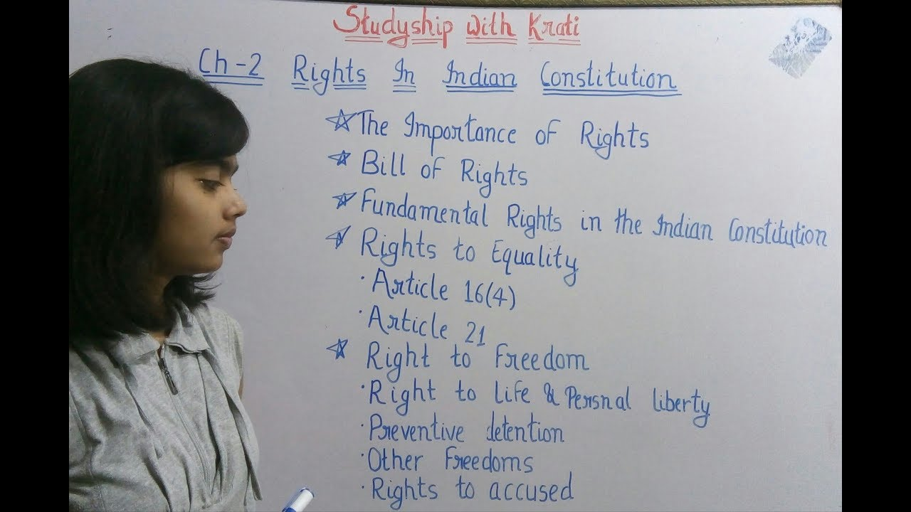 Class 11th Political Science ncert Ch-2(Part-1)  Rights in the Indian  Constitution
