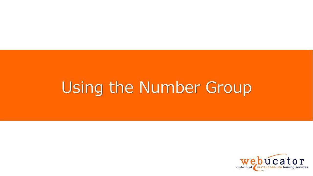How to Format Numbers in Microsoft Excel | Webucator