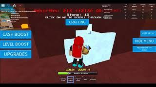 Jogando outro simulador de mineração em Roblox