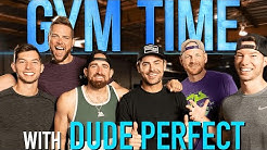 DUDE PERFECT takes over Gym Time | Gym Time w/ Zac Efron