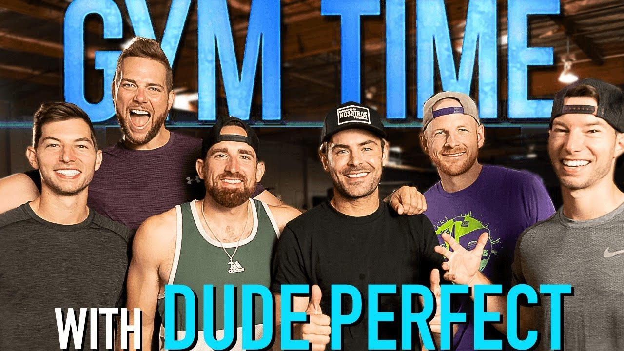 DUDE PERFECT takes over Gym Time   Gym Time w/ Zac Efron