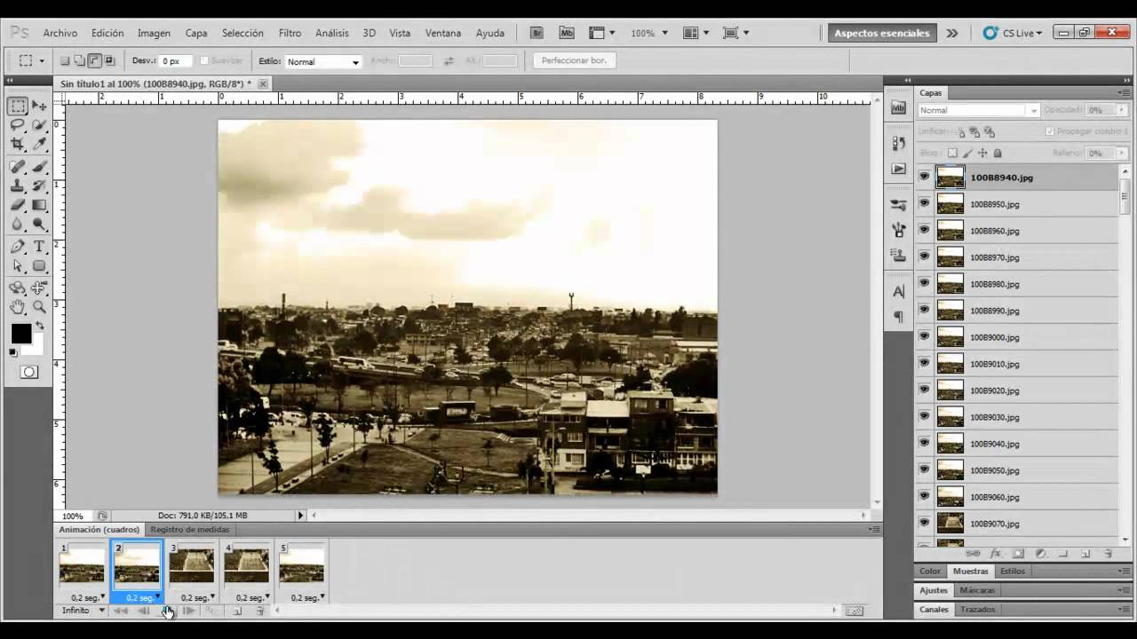 Animacion en Photoshop - Fotogramas - Tutorial 01 - YouTube